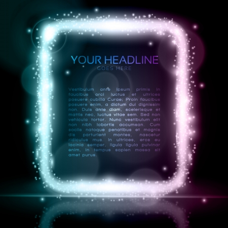 Glossy frame background  Vector