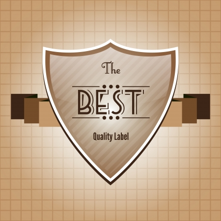 Vintage retro Label design Vector