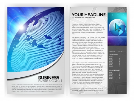 Business Flyer Template  Stock Vector - 14426629