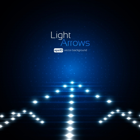 Light Arrows Background Vector
