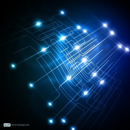 RESEAU: EPS10 Conception colorée de réseau vectoriel