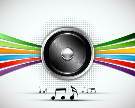 retro radio: 3D Abstract music vector background design