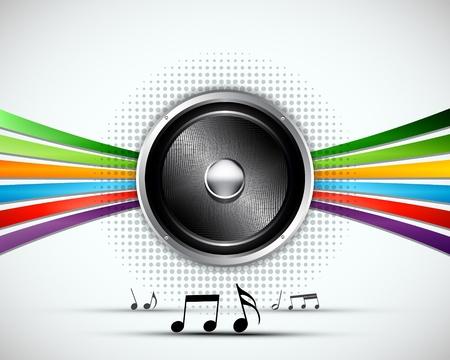 electronic music: 3D astratto musica di sfondo disegno vettoriale