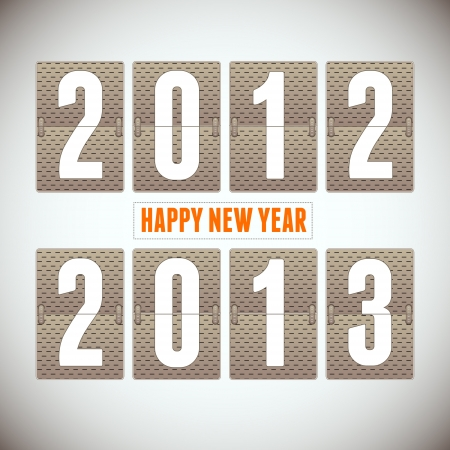 New Year arrival 2013  Background  Vector
