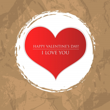 Valentin Card Design with Vintage Background Vector