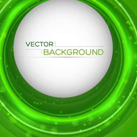 Green bright circles  background Vector