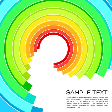 Abstract colorful circle wave Stock Vector - 14430177