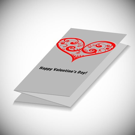 3D Valentine s Day Vector Card Stock Vector - 14476904