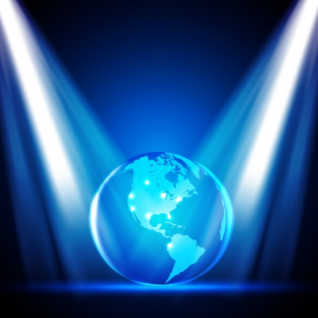 Stage Lights with Globe -  Design Stock Vector - 14753346