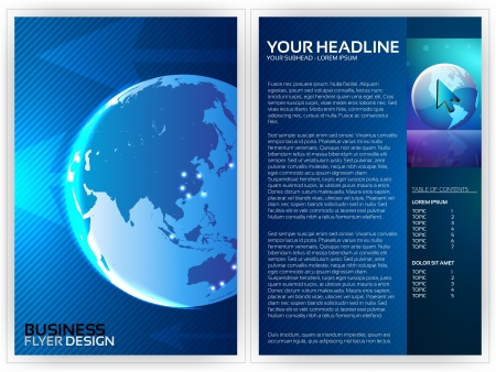 Business Flyer Template -  Design Vector