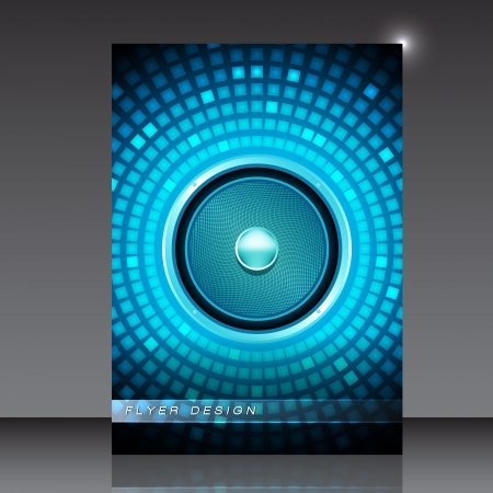 party flyer: Audio Speaker - Party Flyer -  Design
