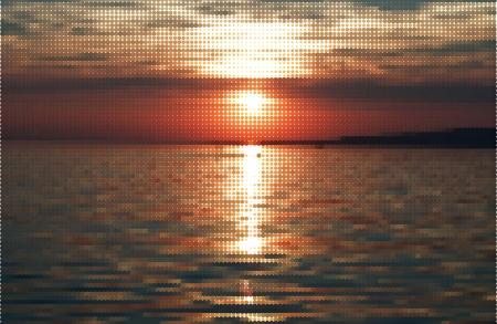 Realistic Sunset  Illustration Vector