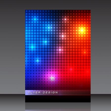vision nocturna: Los puntos de colores de fondo abstracto Flyer