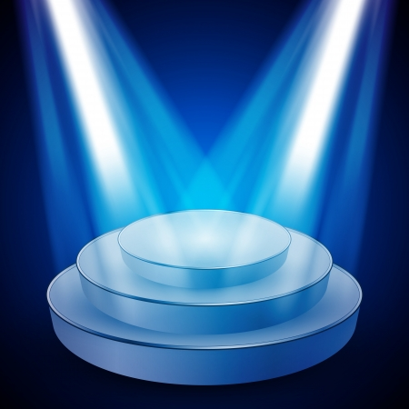 Stage with Lights -  Design Vector