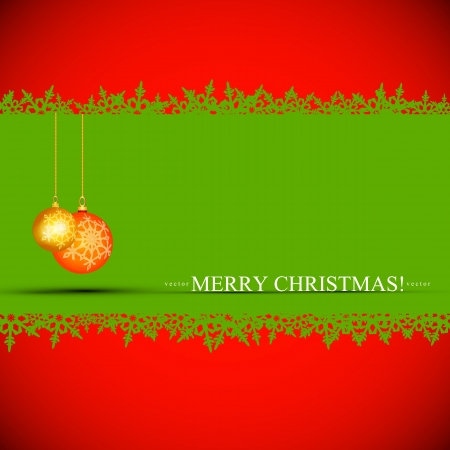 Elegant christmas background with ornaments  Design Vector