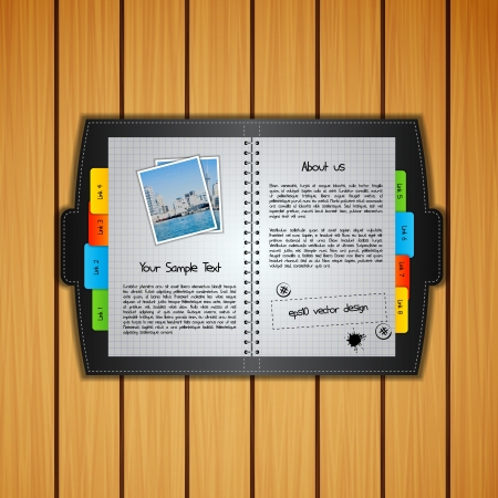 Detailed Copy-book  Template Vector