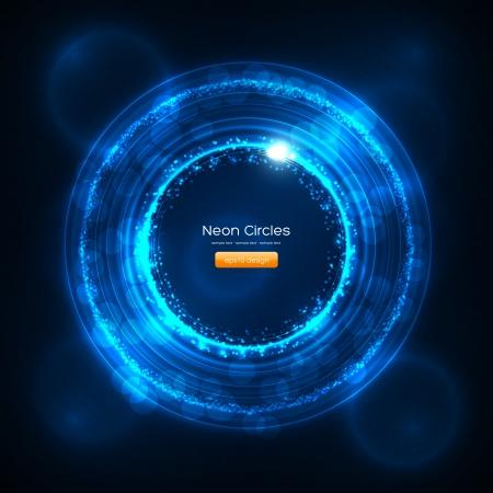Neon Cirkels Abstracte Achtergrond