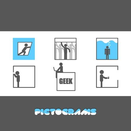 claustrophobia: Pictograms