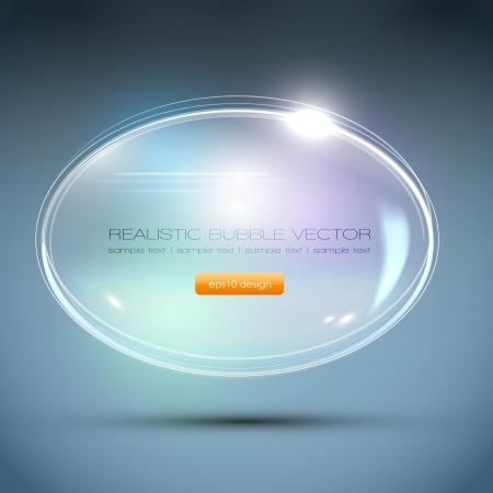 Abstract Background - Glass Ball Speech Bubble Vector