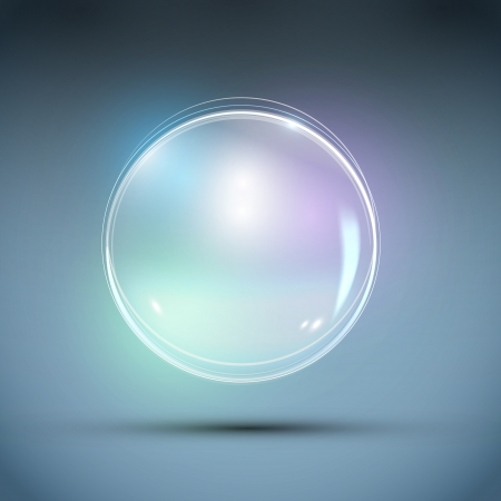Realistic Bubble Abstract Background Vetores