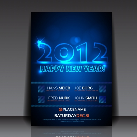2012 New Year Flyer Template Stock Vector - 15282400