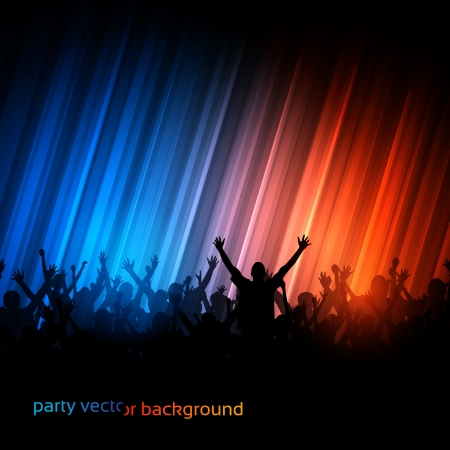 party club: Background - Dancing Young People Illustration