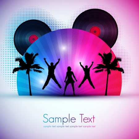 Party Design with Young People Stock Vector - 15282519