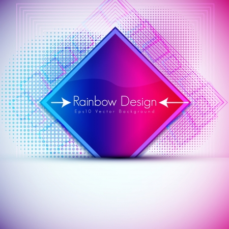 Colorful Square Design Stock Vector - 15282521