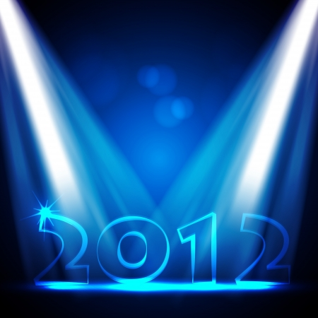 2012 New Years Eve Design Illustration