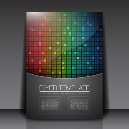 Rainbow Squares - Flyer Template Vector