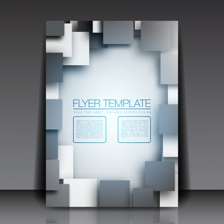 3D Squares - Business Flyer Template Design Stock Vector - 15282698