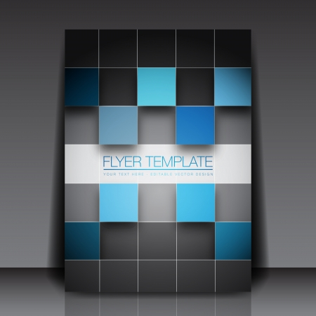3D Squares - Business Flyer Template Vector