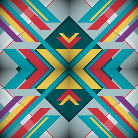 Kaleidoscope Geometric Abstract background Vector
