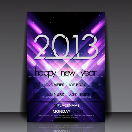 2013 New Year Flyer Template Stock Vector - 15282659