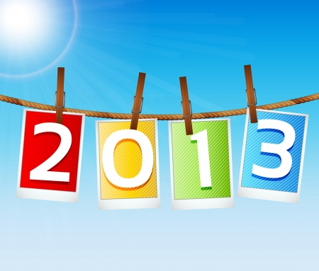 2013 New Year s Eve Greeting Card Stock Vector - 15282696
