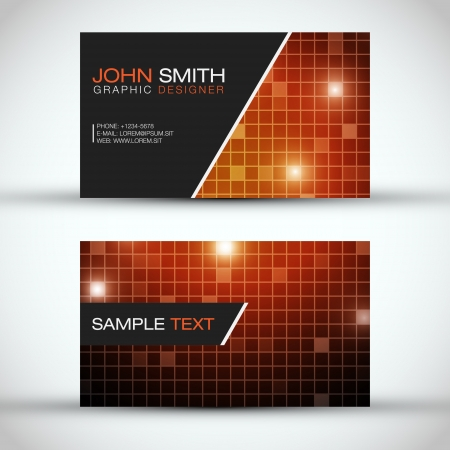 Orange Modern Business Card Set Stock Vector - 15282627