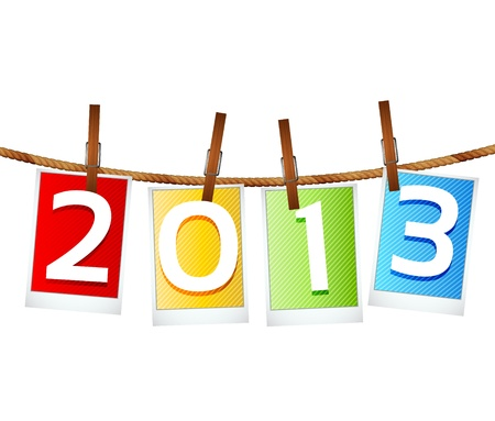 2013 New Year Eve Greeting Card Stock Vector - 15282690