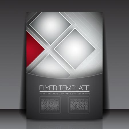 flyer background: Zakelijke Vierkanten Achtergrond Flyer Template