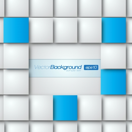 Blank square background for Your Text - Realistic 3D Background Vector