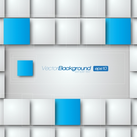 Blank square background for Your Text - Realistic 3D Background Stock Vector - 15282717