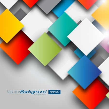 white background illustration: Colorful Square blank background