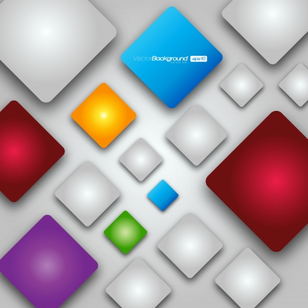 Colorful Square blank background Design Concept Vector