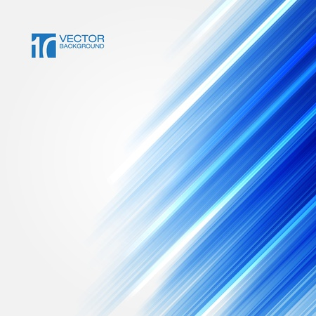 hi tech background: Blue Straight lines abstract background Illustration