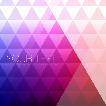 Abstract Triangles Background for Design - Geometric Illustration Vector