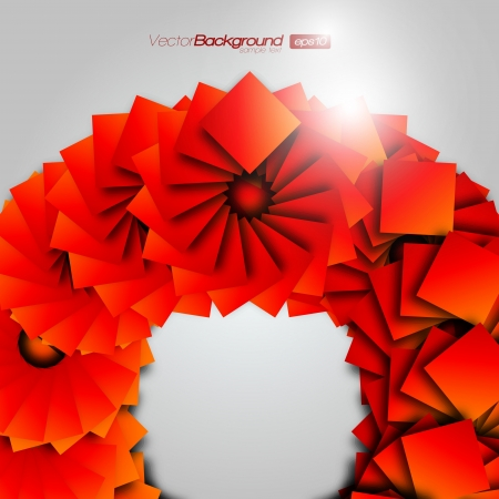 Orange Square Wheel Background Design Concept Vector