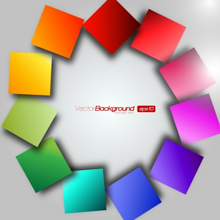 children circle: Colorful Square Wheel Background