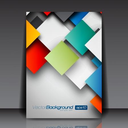 flyer background: Kleurrijke 3D Squares - Zaken Flyer Template Design Stock Illustratie