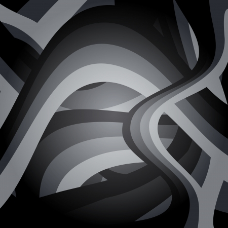 Black and White Abstract Lines Background Vector