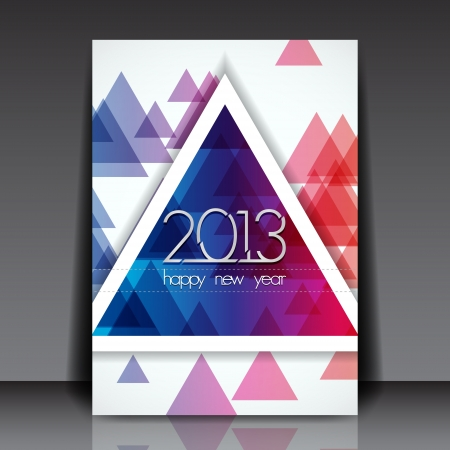 2013 New Year Editable Flyer Template Stock Vector - 15775554
