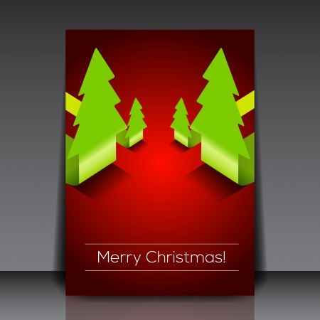 Christmas tree flyer template   Vector